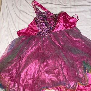 Cotton candy prom dress